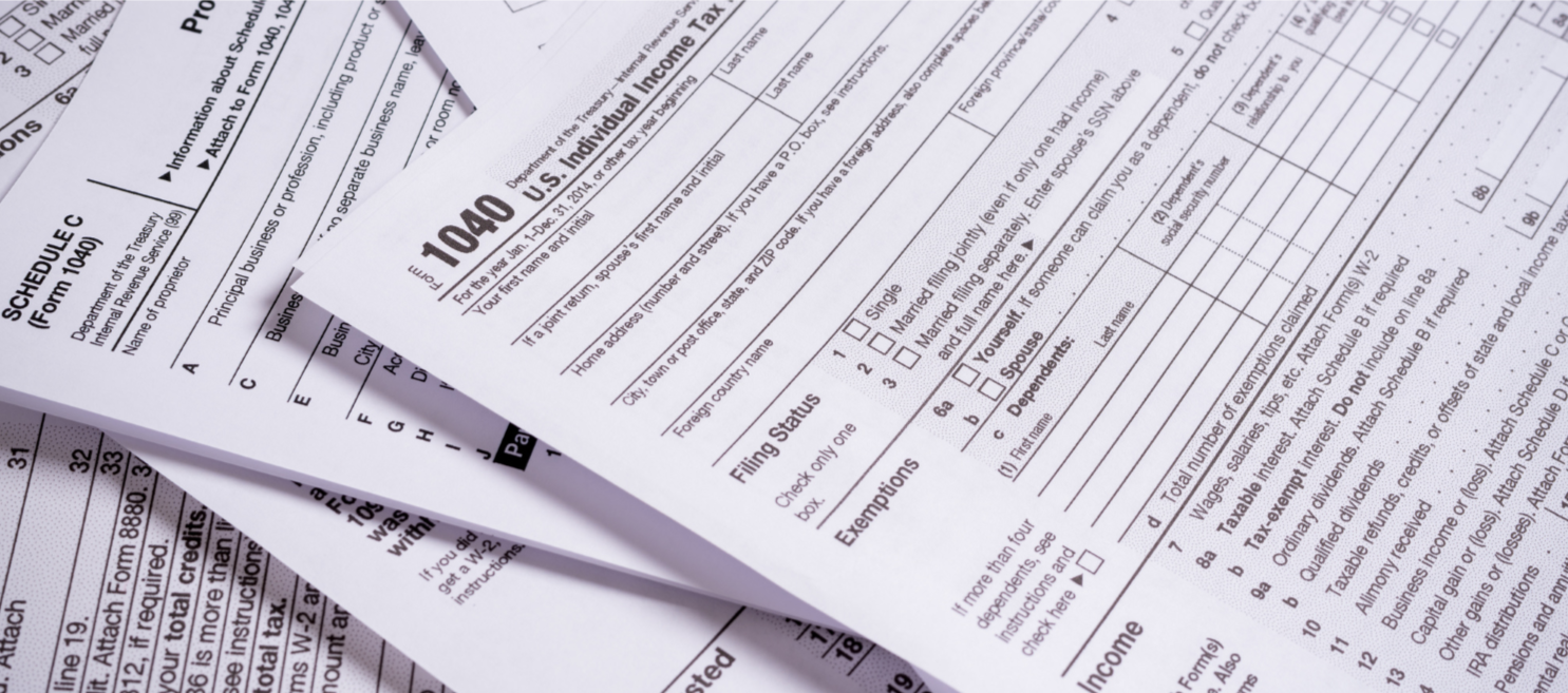 US-federal-tax-return-paperwork